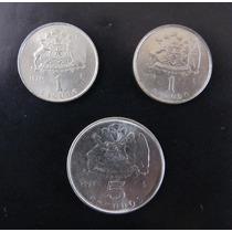 1 Escudo 1971 - 1972 Y 5 Escudos 1971 ¿ Chile