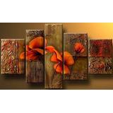 Cuadros Flores Modernos,polipticos Decorativos