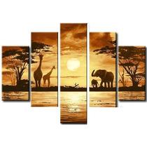 Cuadros Paisajes Africanos Modernos Polipticos  $70.000