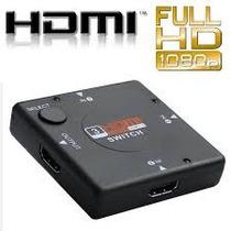 Nuevo Switch Hdmi Hub 3 D, Multipuerto 1080p Splitter Hdtv