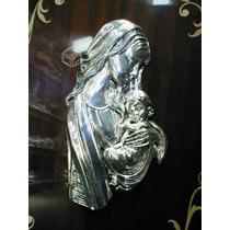 Virgen Niño Jesus Figura Italiana Bañada En Plata