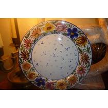 Plato Cala Hermosa Ceramica Chilena Antigua 26 Cms Loza Lind
