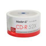 100 Cd-r Imprimibles Master-g 52x 700mb 80 Min Bulk