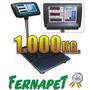 Balanza Pesa Digital 1.000 Kg. Plataforma 80x60cm.
