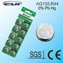 Pack 10 Pilas De Litio Ag13 Lr44 A76 Baterias Reloj Juguete
