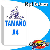 Papel De Azucar Comestible Kopykake Tamaño A4 Foto Torta