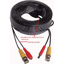 Cable Video Y Poder 30mts. Camaras Y Cctv Con Conectores