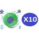 Pack 10 Parlante Bluetooth Portatil Agua Piscina Ducha Gocy