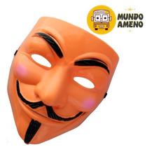 Mascara V De Vendetta Tipo Fake Naranja O Negro Anonymous
