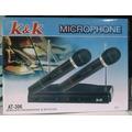Microfonos K K Dobles Receptor Inalambricos Karaoke Fiestas
