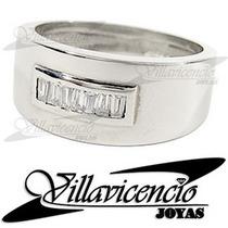 Anillo De Oro Blanco 18k 6.5 Gr Con Cristales Swarovski