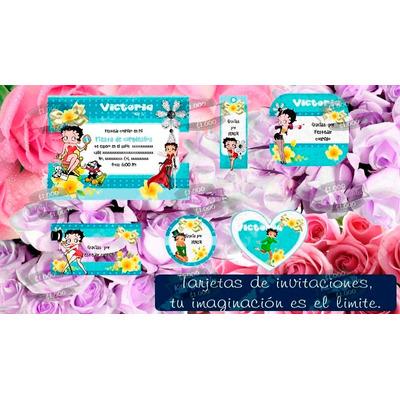 Compra Kit Imprimible Betty Boop Diseña Tarjetas Cumpleaños