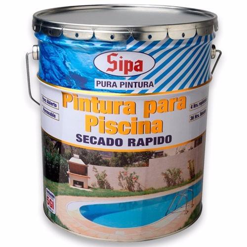 Pintura de piscina sipa tineta 5 galones 79900 tx1gw for Pintura para piscinas