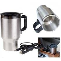 Mug Electronico Vaso Termico Automovil Metalico 12v