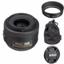 Lente Nikon Af-s 35mm F/1.8g Dx Nikkor + Filtro Uv Unidades