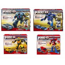 Set 4 Kreo Transformers Block  Original Hasbro 406 Piezas