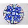 Plato Decorativo De Ceramica De Coleccion Flores Azules