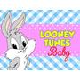 Kit Imprimible Baby Looney Tunes Diseñá Tarjetas Cumples 2x1