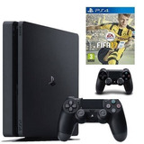 Playstation 4 Slim + Fifa 17 (ps4) + Control - Sniper Game