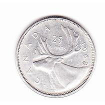Moneda De 25 Centavos 1968 Canada
