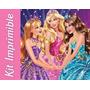 Kit Imprimible Barbie Escuela De Princesas Invitaciones #6