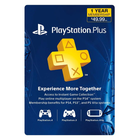 Playstation Plus 1 Año (código Para tabla Usa)