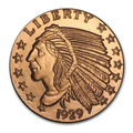 Notable Diseño: Incuse Indian Ounce Eeuu Cobre Bunc
