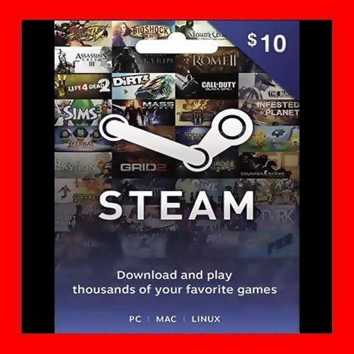 Tarjeta Steam Wallet Card $10 Usd Caja Vecina Cuenta Rut