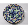 Plato Decorativo De Ceramica Artesanal Flor Colores