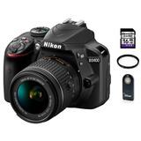 Nikon D3400 Lente 18-55mm + 16gb Sd + Control + Filtro Uv