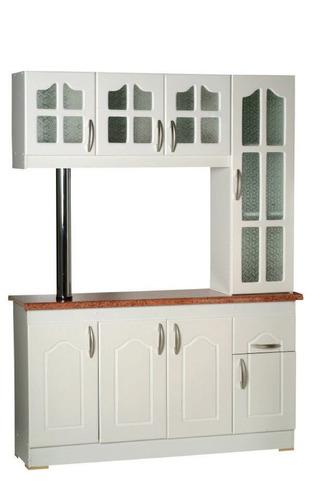 Mueble De Cocina Americano, 3 Y 4 Cps, Blanco Y Madera. en venta en ...