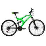 Bicicleta Lahsen Mtb 26 Impact Doble Suspensión Color Verde