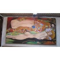 Copia Klimt  Serpientes Acuaticas , Oleo Sobre Lienzo