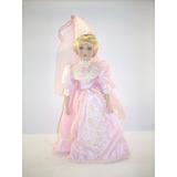 Preciosa Muñeca De Porcelana 45 Cms.