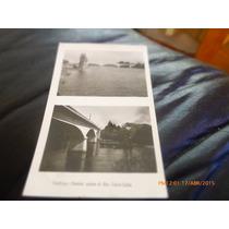 Foto Postal De Valdivia Sobre El Rio Calle Calle 1949