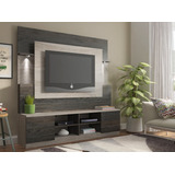 Mueble Rack Home Atenas Gris Tv 32  A 60'' - Ikean