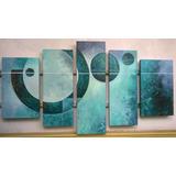 Cuadros Abstractos Modernos Polipticos Coloridos