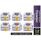 Toallitas Humedas Emuwipes Superior 80 C/u Pack X 12 Bolsas