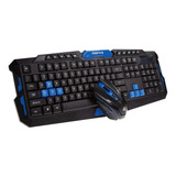 Kit Combo Teclado Mouse Inalámbrico Wireless Rf Gamer