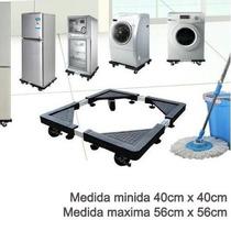 Base Multiusos Ruedas Cocinas Lavadoras Refrigerador Mediano