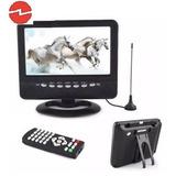 Mini Tv Digital Portatil 7 Isdb-t, Usb, Sd, Bate, 220/12v