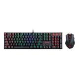 Kit Gamer Redragon Teclado Mecanico + Mouse  K551rgb-ba