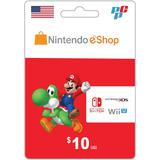 Tarjeta Nintendo Eshop 10 Dolares Digital - Prepagochile