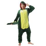 Pijama Polar Dinosaurio Kigurumi Verde Adulto