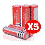 Pack 5 Baterias Recargables Modelo 18650 Para Linterna Led