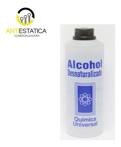 Alcohol Desnaturalizado De 1 Litro 95% Etilico Alta Pureza