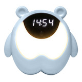 Luz Nocturna Reloj Alarma Cuerpo Y Vibración Inducción 3 Gru