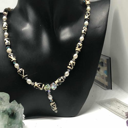 b7831af171c2 Collar Perlas Cultivadas Genuinas Cristales Aureolas Boreale