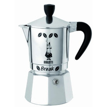 Bialetti Break Coffee Maker 3 Tazas Negro Importación Itali