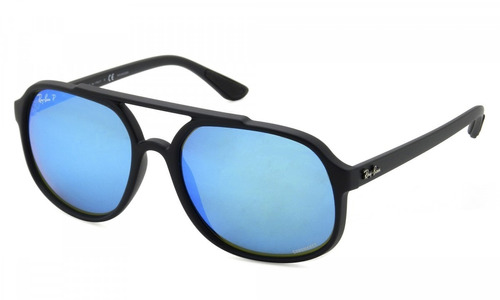 412cc1fb25 Gafas De Sol Ray-ban Rb4312 Cromance Azul Espejada Polariz